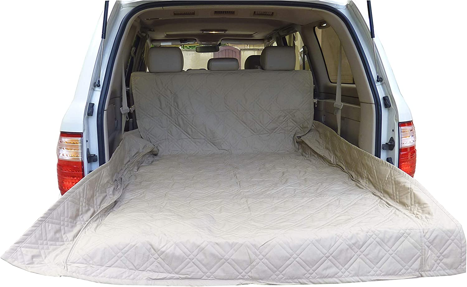 Formosa Covers Deluxe Quilted and Padded Cargo Liner Taupe  One Size Fits All 52  W x 93  L