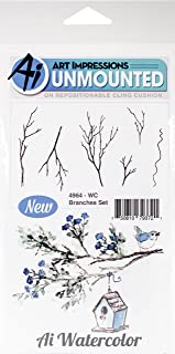 Art Impressions Watercolor Cling Rubber Stamps, Branches