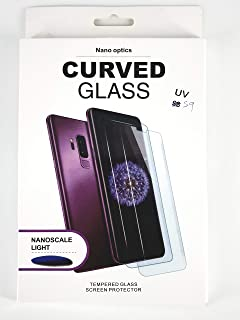 Glass screen protector with nano liquid and UV device for mobile For Samsung S9 from glass