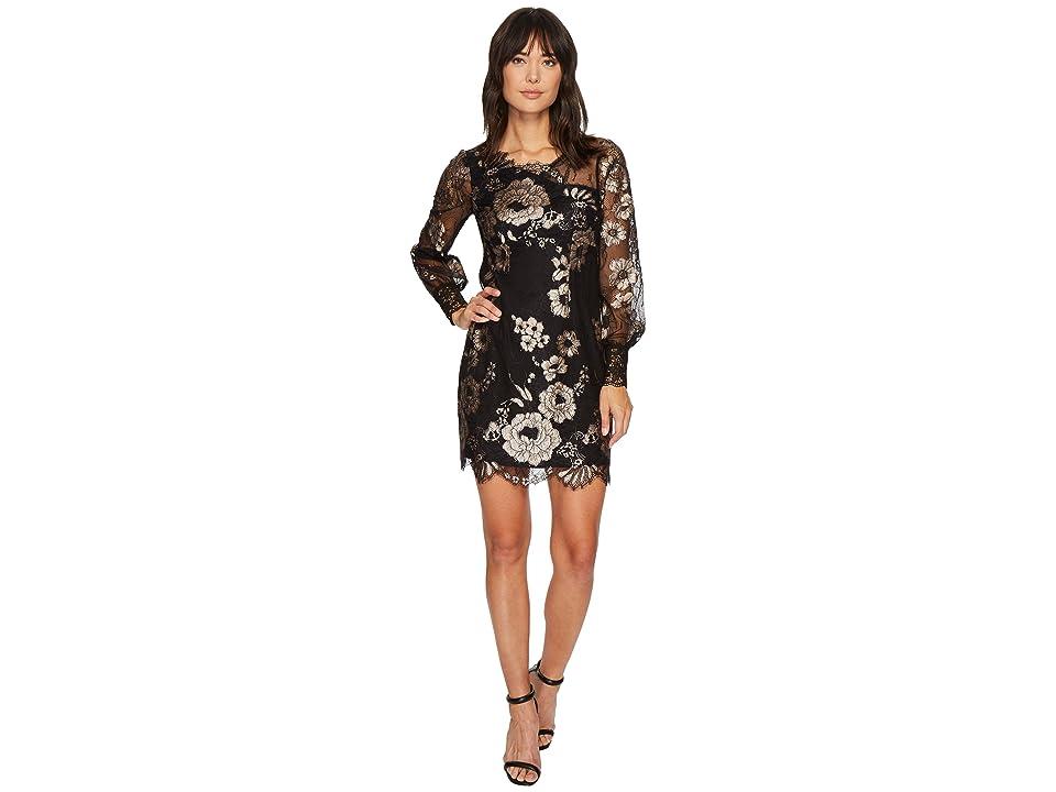 Nanette Lepore Joie De Vivre Dress (Black/Petal) Women