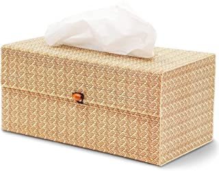 Juvale Bamboo Cane Tissue Box Cover for Home and Bathroom Decor (10.5 x 5.5 x 5 Inches)