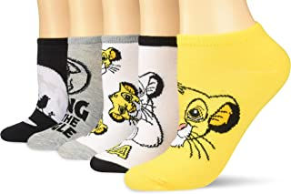 Disney Lion King Simba King of The Jungle 5 Pack Ankle Socks