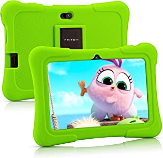 Pritom 7 inch Kids Tablet | Quad Core Android 10.0, 16GB ROM | WiFi,Bluetooth,Dual Camera | Educationl,Games,Parental Cont...