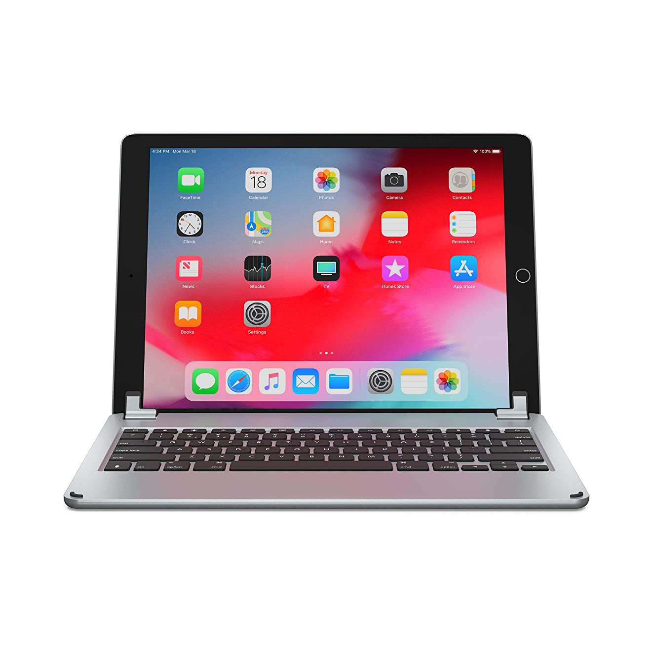 Brydge 12.9 Keyboard for iPad Pro 12.9 inch | 2017/2015 Models only | Aluminum Bluetooth Wireless Keyboard with Backlit Keys | Long Battery Life | (Space Gray)
