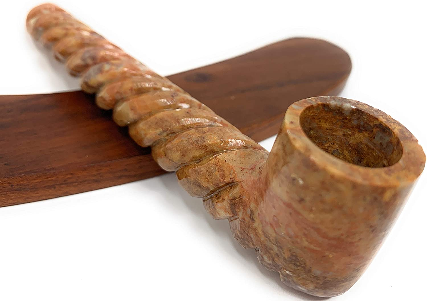 Unique Churchwarden Style Stone Pipe Max 58% OFF 6.5 Handcrafted inch Spring new work one after another Carved