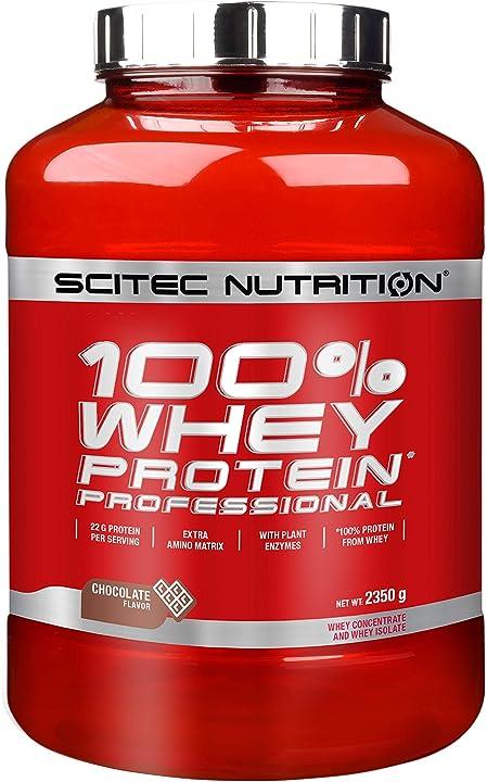 Proteine in polvere scitec nutrition 100% whey protein professional, cioccolato, 2820 g 2820 2820