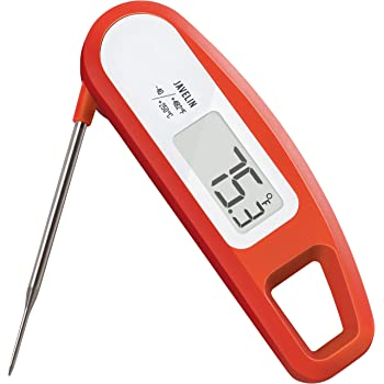 Lavatools PT12 Javelin Digital Instant Read Meat Thermometer for Kitchen, Food Cooking, Grill, BBQ, Smoker, Candy, Home Brewing, Coffee, and Oil Deep Frying (Chipotle)