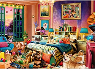 Jigsaw Puzzles for Adults 1000 Pieces | Mischievous Pets Party | 1000 Piece Jigsaw Puzzles for Adults Teenagers DIY Toys