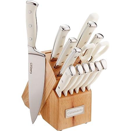 Cuisinart C77WTR-15P Classic Forged Triple Remache, Set de 15 piezas, Blanco