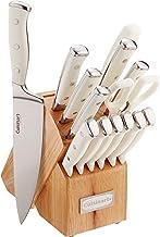 Cuisinart Classic Forged Triple Rivet 15 Piece Set, White