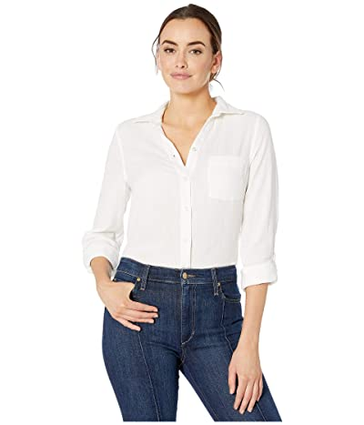 Jag Jeans Long Sleeve Adley Double Cloth Button-Up Shirt (White) Women