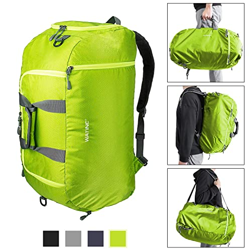 cfb71dc6ab WATINC 50L 3-Way Travel Duffel Backpack Luggage Gym Sports Bag with Shoe  Compartment (