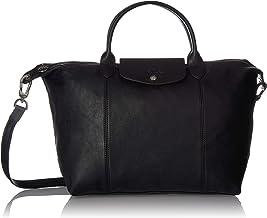 Longchamp Le Pliage Cuir Top-Handle Bag Medium