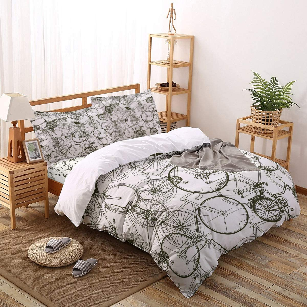 Greeeen 4 Pieces Duvet Cover 67% OFF of fixed price Set- trust + Flat 1 Bedding