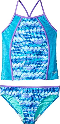 Speedo Kids - Printed Heather Tankini Two-Piece (Big Kids)