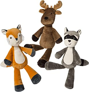 Mary Meyer Loosey Goosey Stuffed Animal Soft Toys, Set of 3, 9-Inches, Forest Fox, Moose, & Raccoon