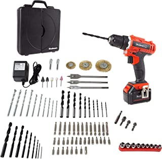 Stalwart - 75-PT1040 20V Cordless Drill with Rechargeable Lithium-Ion Battery and 89 Piece Accessory Set - Portable Power ...