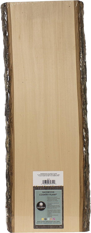 (60cm )  Walnut Hollow Basswood Country Decorative Plank, 60cm Long