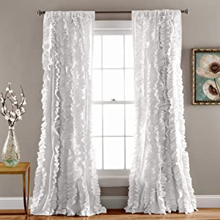 Lush Decor Belle Window Panel for Living, Dining Room, Bedroom (Single Curtain), 84