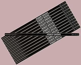 ezpencils - Personalized Black Hexagon Pencils - 144 Pencils pkg FREE PERZONALIZATION