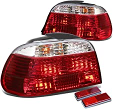 For BMW E38 7-Series 4Dr Pair of Chrome Housing Red Rear Brake+Signal Tail Light