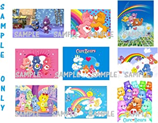 9 Care Bears inspired Stickers, Favors, gifts, party supplies, decorations, Labels, Birthday, Crafts, Scrapbooking, Rewards