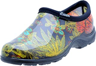 Sloggers  Women's Waterproof  Rain and Garden Shoe with Comfort Insole, Midsummer Black, Size 9 Style 5102BK09