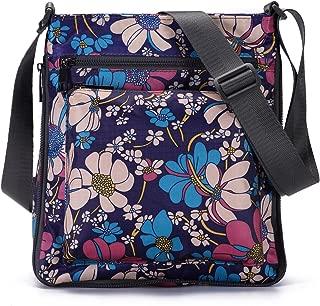STUOYE Mutil-Pocket Nylon Crossbody Purse Bag with Adjustable Zipper