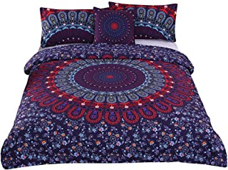 Sleepwish 4 Pcs Love Stretches Bedding Bohemian Retro Bohemian Duvet Cover Set Queen Size