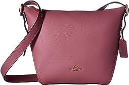 코치 스몰 네추럴 카프 레더 시그니처 숄더백 - 로즈 COACH Small Dufflette in Natural Calf Leather,Li/Rose