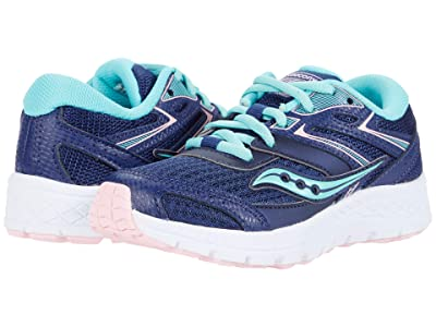 Saucony Kids S-Cohesion 13 LTT (Little Kid/Big Kid) (Navy/Turquoise) Girls Shoes