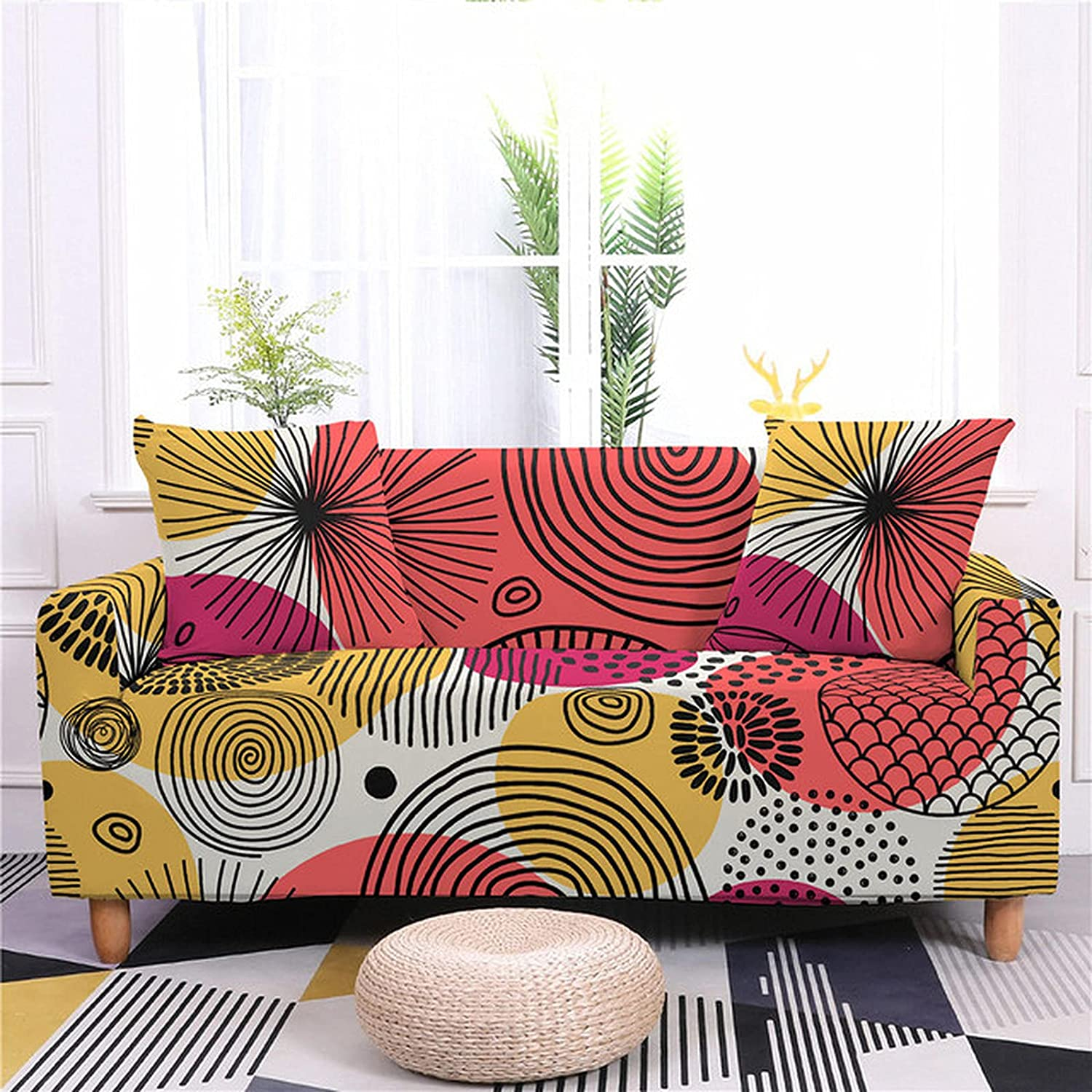 ZHOUMOLIN OFFicial mail order Geometry Spandex Elastic Sofa Cover Wrap Tight Nashville-Davidson Mall All-Inc