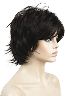 Lydell Short Layered Shaggy Full Synthetic Wig Wigs #4 Dark Brown