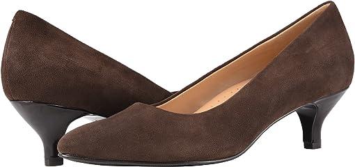 Dark Brown Suede Leather