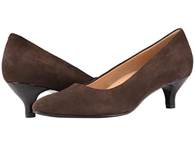 Trotters Kiera (Dark Brown Suede Leather) Women