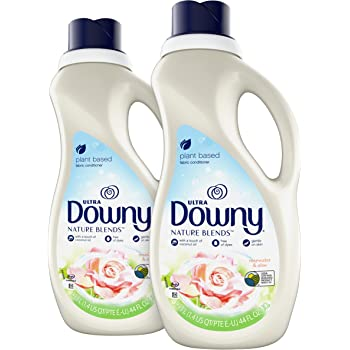 Downy Nature Blends Fabric Conditioner (Fabric Softener), Rosewater & Aloe, 44 Oz Bottles, 2 Pack, 104 Loads Total