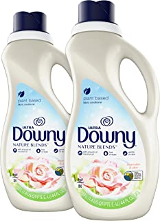 Downy Nature Blends Fabric Conditioner (Fabric Softener), Rosewater & Aloe, 104 Loads Total, 44 Fl Oz (Pack of 2)