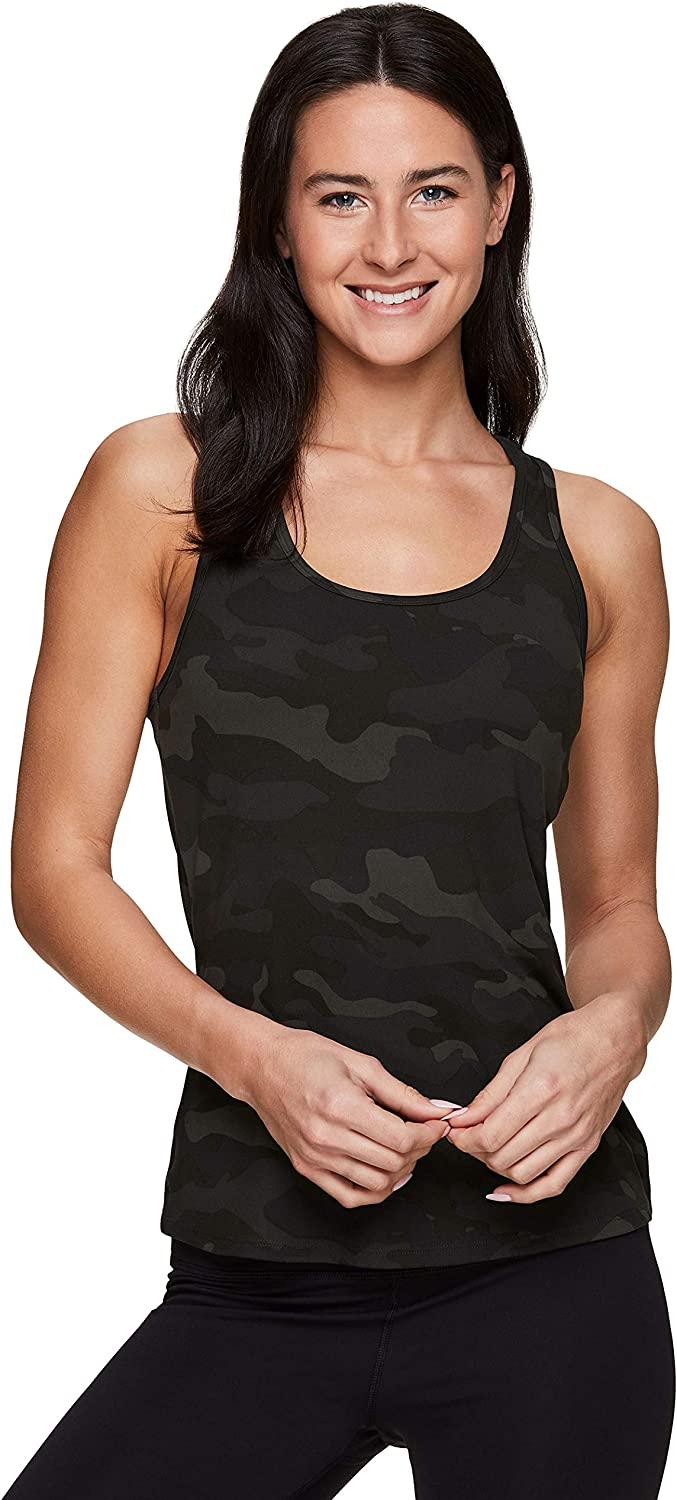 RBX Active Womens Fashion Athletic Sleeveless Racerback Workout Yoga Tank Top