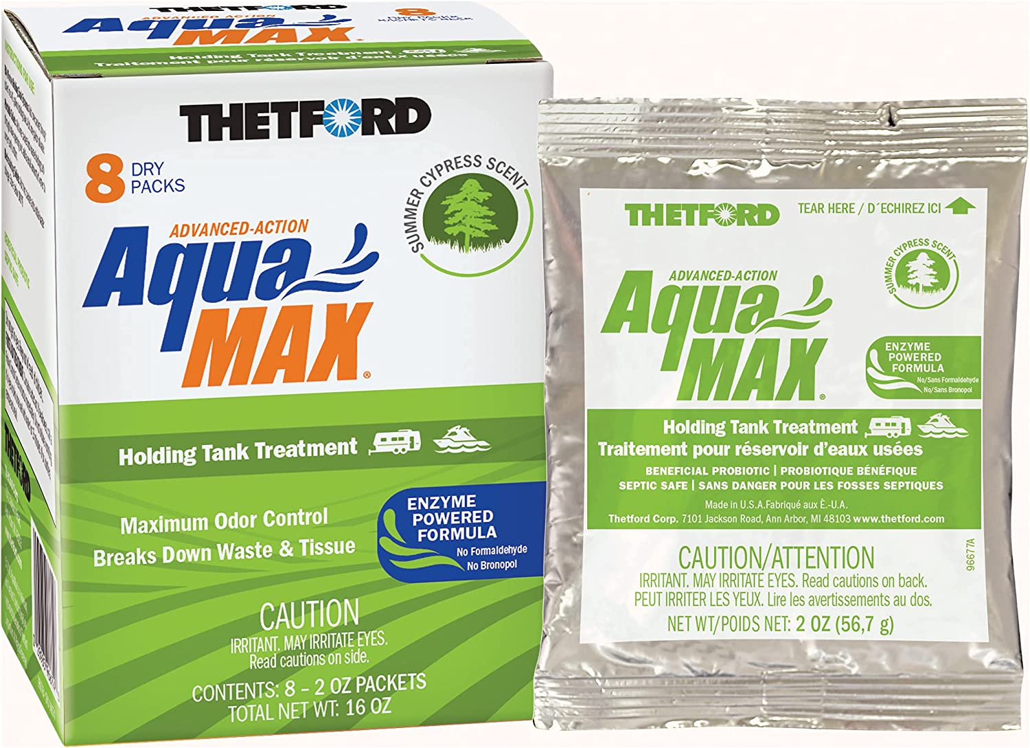 Thetford AquaMAX Summer Cypress New color Scent NEW before selling Holding Treatment Tank RV
