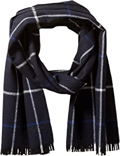 Men's Wool Scarf – 100% Australian Merino Wool, 72 inches x 14 inches, by Hickey Freeman
