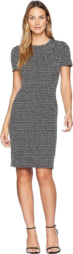 Short Sleeve Printed Sheath Dress CD8C29JL