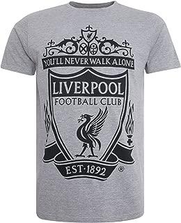 Liverpool FC LFC Mens Grey Marl Tee Official