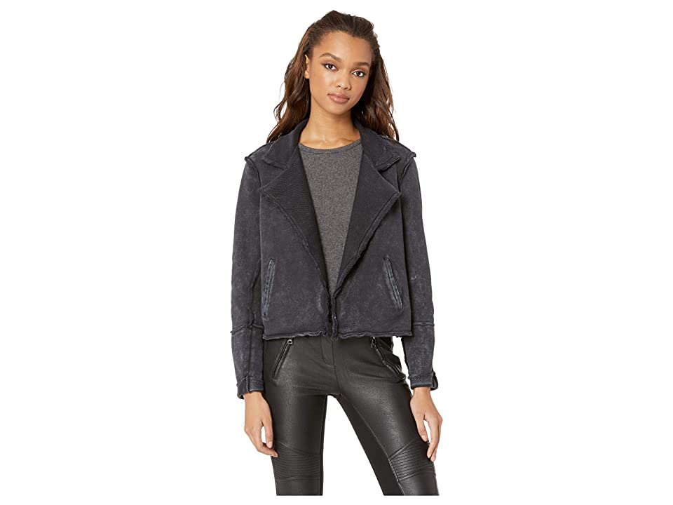 Splendid Woodland Mineral Wash Sweatshirt Jacket (Mineral Wash Black) Women