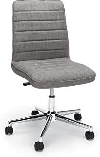 Essentials Upholstered Mid-Back Office Chair - Armless Fabric Computer Chair, Grey