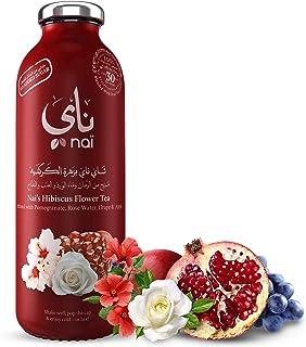 شاي مثلج بزهرة الكركديه، بمزيج الرمان وماء الورد من ناي، 473 مل