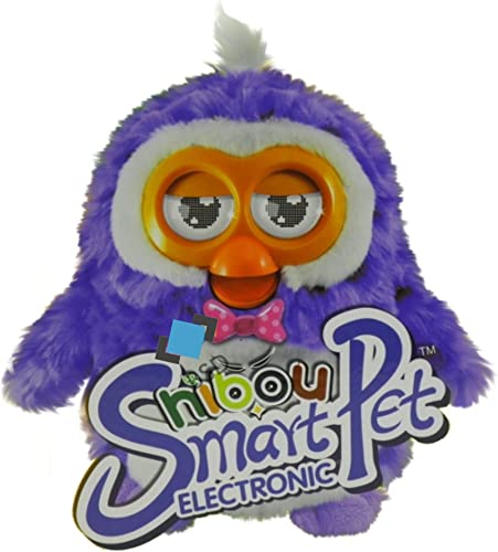 BSD Interaktive HIBOU Eule - Electronic Smart Pet Hibou Owl - Animal Plush Toys for Kids - LernSpaß Eule Plüschtiere - Interactive with Mobile Phone and Tablets - lilaT