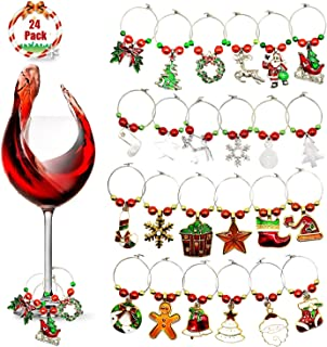 Best christmas wine glass rings Reviews