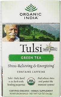 Organic India, Tea Tulsi Green Organic, 18 Count