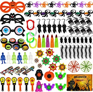 Aitbay 150PCS Halloween Party Favors Bulk for Kids, Favors Toy Assortment for Carnival Prizes, Trick or Treat, Halloween P...