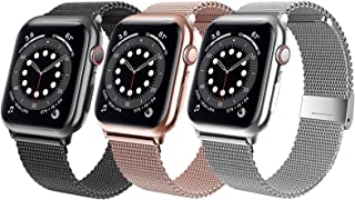 Valband Magnetic Bands Compatible for Apple Watch Band 38mm 40mm 42mm 44mm, Stainless Steel Mesh Wristband Sport Loop for ...